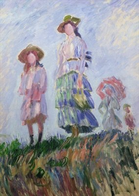 The Walk Fine Art Print by Claude Monet