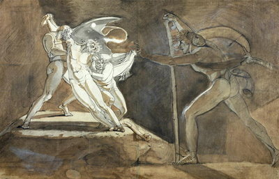 Edgar, Feigning Madness Approaches King Lear Fine Art Print by Henry Fuseli