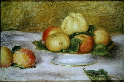 Still Life with Apples Poster Art Print by Pierre-Auguste Renoir