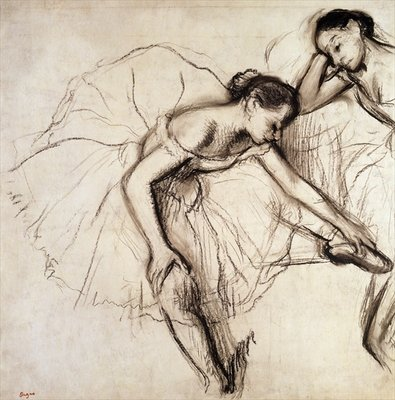 Two Dancers Resting Poster Art Print by Edgar Degas