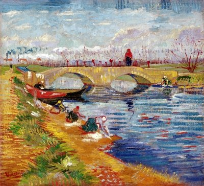The Gleize Bridge over the Vigneyret Canal, near Arles Fine Art Print by Vincent van Gogh