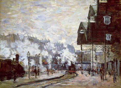 Gare Saint-Lazare, Paris, 1877 Fine Art Print by Claude Monet