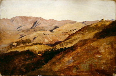Study of Hills, 1879 Poster Art Print by Frederic Leighton