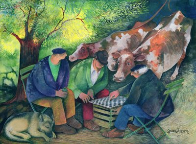 Cow Dealers Fine Art Print by Lisa Graa Jensen