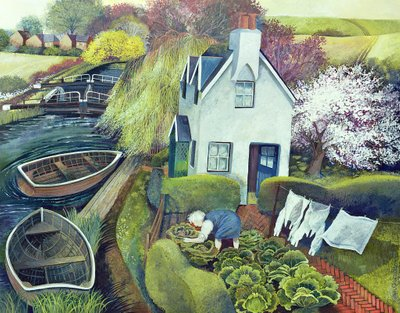 St. Catherine's, Lock Gates Postcards, Greetings Cards, Art Prints, Canvas, Framed Pictures, T-shirts & Wall Art by Lisa Graa Jensen