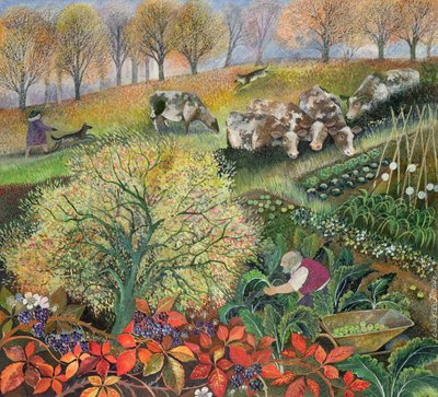 George's Allotment Poster Art Print by Lisa Graa Jensen