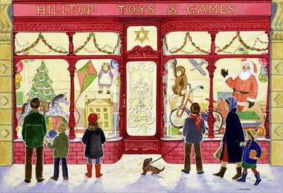 Hilltop Toys and Games Poster Art Print by Lavinia Hamer