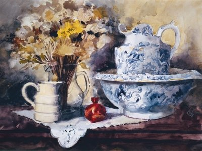 Bowl and Jug Fine Art Print by John Lidzey
