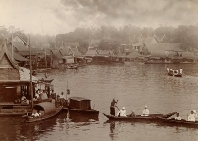 Chao Phraya River, 1890 Fine Art Print by Robert Lenz