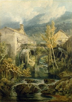 The Old Mill, Ambleside Fine Art Print by Joseph Mallord William Turner