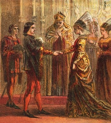 Marriage of Henry V Fine Art Print by English School