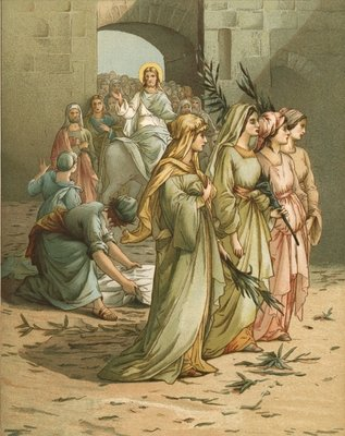 Christ arriving in Jerusalem Fine Art Print by John Lawson