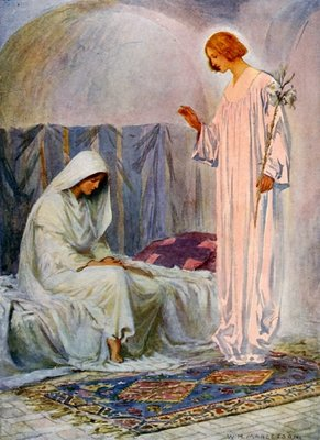 The Annunciation Wall Art & Canvas Prints by William Henry Margetson