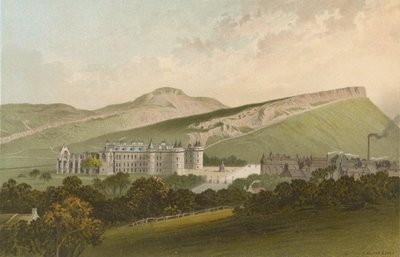Arthur Seat and Salisbury Crags - Edinburgh Fine Art Print by English School