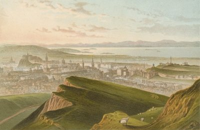 Edinburgh from Arthur's Seat Fine Art Print by English School