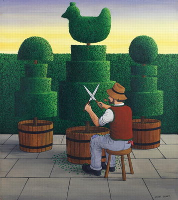 The Gardener, 1986 Poster Art Print by Larry Smart