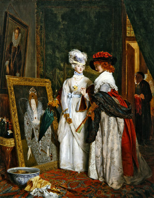 Critics on Costume, Fashions Change Wall Art & Canvas Prints by John Callcott Horsley