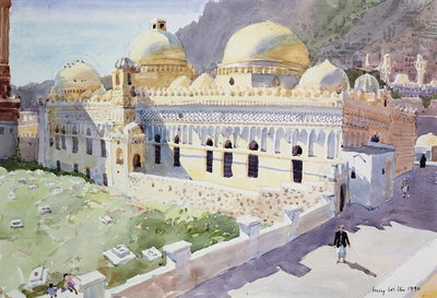 Mosque, Taiz, Yemen, 1990 (w/c on paper) Fine Art Print by Lucy Willis