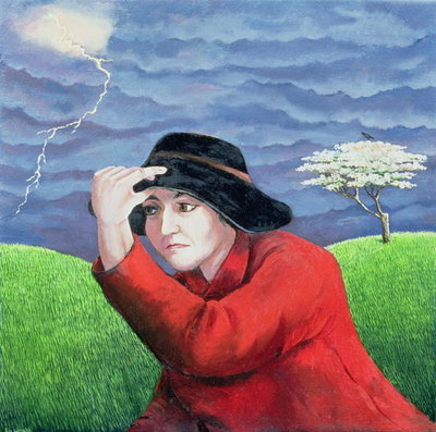 Determination, or Weathering the Storm Poster Art Print by Liz Wright