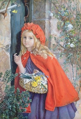 Little Red Riding Hood, 1862 Fine Art Print by Isabel Oakley Naftel