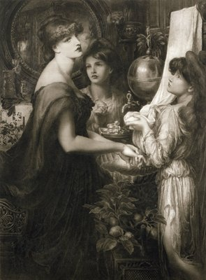 La Bella Mano, 1905 (photogravure) (see 106994) Wall Art & Canvas Prints by Dante Gabriel Rossetti
