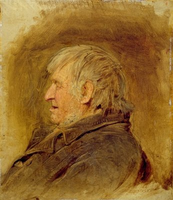 Profile Study of an Elderly Man, 1884 Fine Art Print by John Faed