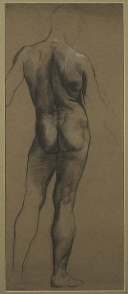 Male Nude Study Fine Art Print by Evelyn De Morgan