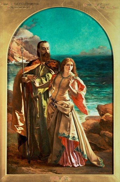 Prospero and Miranda, c.1850 (oil on canvas) Wall Art & Canvas Prints by William Maw Egley