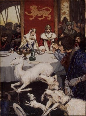 King Arthur's Wedding Feast, 1905 (w/c) Fine Art Print by Arthur Rackham
