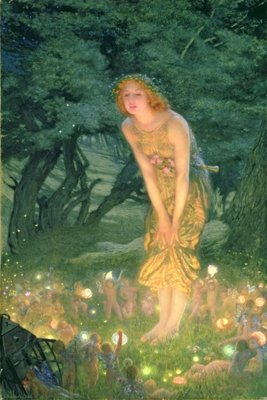 Midsummer Eve Fine Art Print by Edward Robert Hughes