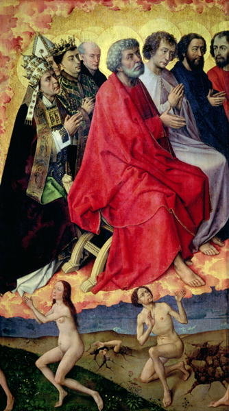 Detail of the Resurrection from the Dead, from The Last Judgement, c.1445-50 Wall Art & Canvas Prints by Rogier van der Weyden