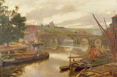 The Old Bridge, Maidstone, View Looking South Fine Art Print by Albert Goodwin