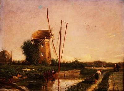 A Mill on the Hague Wall Art & Canvas Prints by Anthony Mark