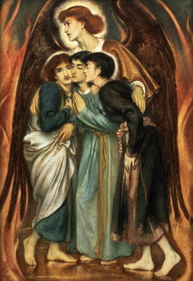 Shadrach, Meshach and Abednego in the Fiery Furnace, 1863 Wall Art & Canvas Prints by Simeon Solomon