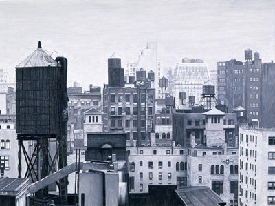 New York Water Towers, 2002 Fine Art Print by Max Ferguson