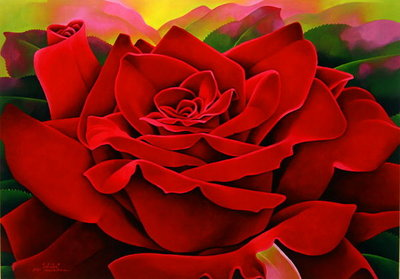 A Great Rose, 2004 Fine Art Print by Myung-Bo Sim