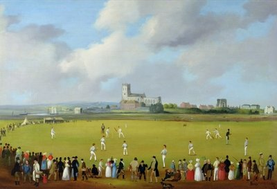 Cricket Match at Christchurch, Hampshire, c.1850 Fine Art Print by Thomas Musgrave Joy