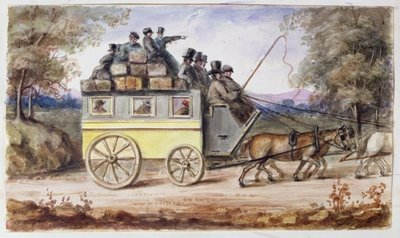The journey from Spalding to Wisbech, 1851 Fine Art Print by Nicholas Wanostrocht