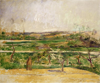Landscape, Aix en Provence, c.1879 Wall Art & Canvas Prints by Paul Cezanne