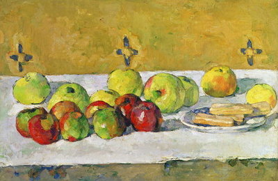 Apples and Biscuits, c.1877 Postcards, Greetings Cards, Art Prints, Canvas, Framed Pictures & Wall Art by Paul Cezanne