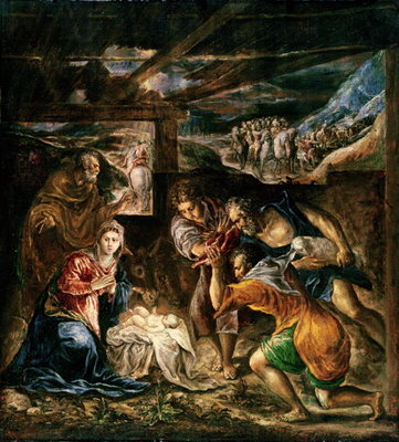 Adoration of the Shepherds, 1572-76 Postcards, Greetings Cards, Art Prints, Canvas, Framed Pictures, T-shirts & Wall Art by El Greco
