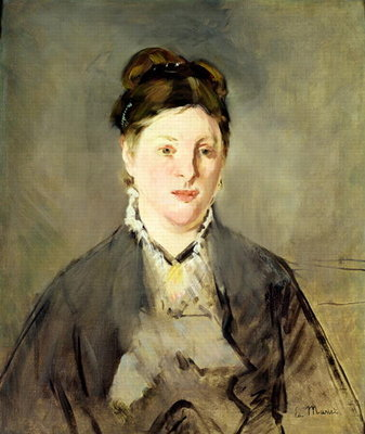 Portrait of Madame Manet Fine Art Print by Edouard Manet