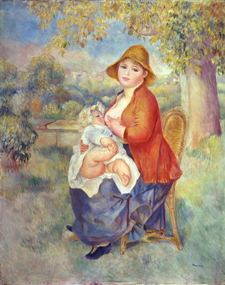 Maternity, 1885 Wall Art & Canvas Prints by Pierre-Auguste Renoir