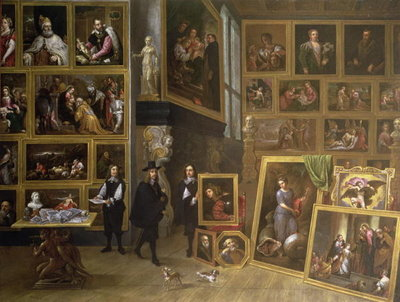 The Picture Gallery of Archduke Leopold Wilhelm Fine Art Print by David the Younger Teniers