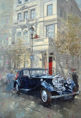 Phantom II into Queens Gate Mews Fine Art Print by Peter Miller