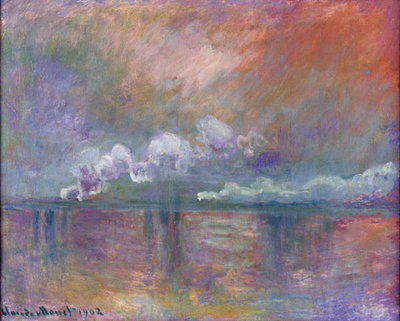 Charing Cross Bridge, Smoke in the Fog, 1902 Fine Art Print by Claude Monet