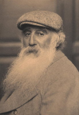 Portrait of Camille Pissarro (1830-1903) (b/w photo) Postcards, Greetings Cards, Art Prints, Canvas, Framed Pictures, T-shirts & Wall Art by French School