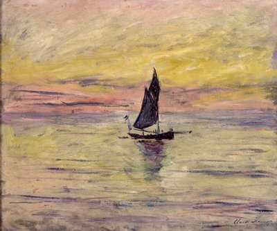 The Sailing Boat, Evening Effect, 1885 Fine Art Print by Claude Monet