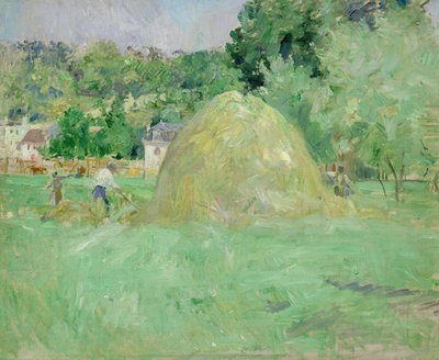Haystacks at Bougival, 1883 Fine Art Print by Berthe Morisot