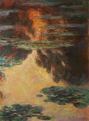 Waterlilies, detail, 1907 Poster Art Print by Claude Monet